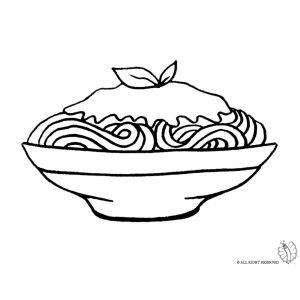 disegni di alimenti disegno di piatto di spaghetti da colorare disegni di