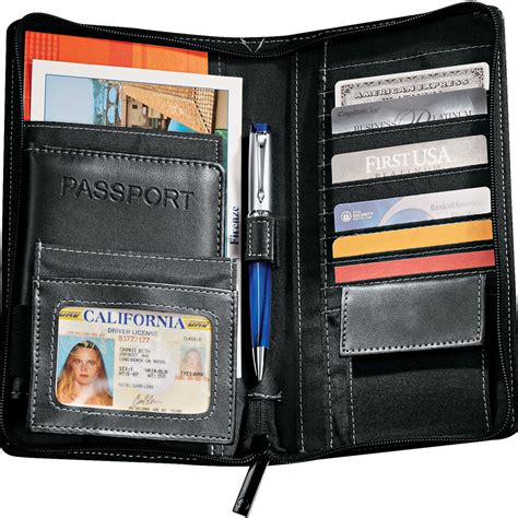 personalized metropolitan deluxe travel wallets le