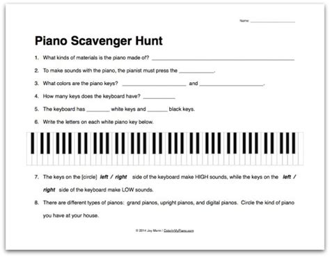 piano worksheets for beginners printable free worksheets