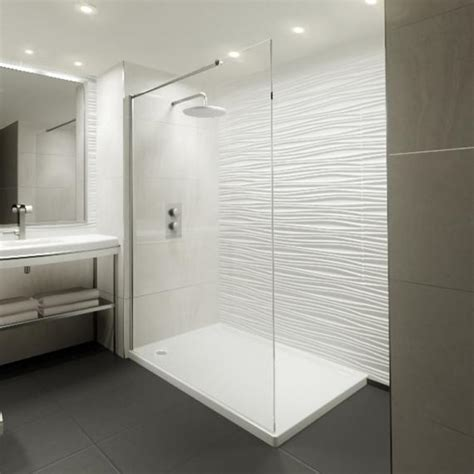 Step In Shower Enclosures by Elite 1400mm Walk In Shower Screen Shower Tray 8mm