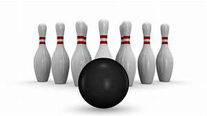 Bowling Strike. White Background Stock Footage Video ...