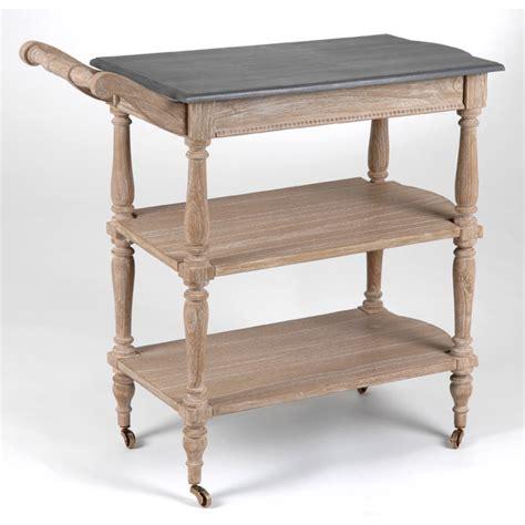 photo table roulante desserte en bois