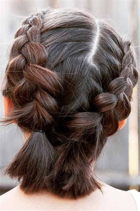 double dutch braids  short hair   brighten