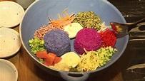 用蝶豆花、火龍果染色 雙色米沙拉視覺饗宴 - Yahoo奇摩新聞