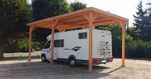 Abri Camping Car Bois : abri camping car en bois douglas 6 poteaux et toit plat ~ Dailycaller-alerts.com Idées de Décoration