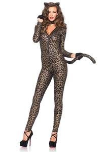 cat bodysuit leopard catsuit