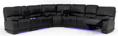 furniture reclining loveseat electra power reclining sectional with led lights