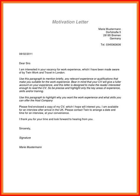 motivation letter sample  job application covering