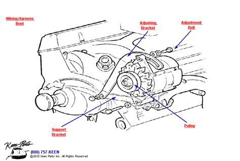 For Small Block Chevy Alternator Wiring Diagram by 1968 Corvette Small Block Alternator Parts Parts
