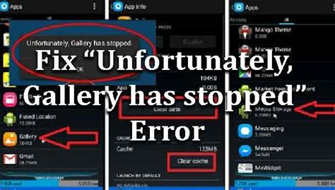 how to fix unfortunately gallery has stopped error