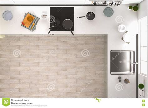 kitchen cabinets top view kitchen top view stock illustration illustration of home