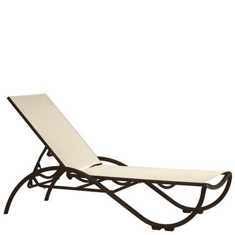 tropitone chaise lounge chairs tropitone 330732 la scala relaxed sling chaise lounge