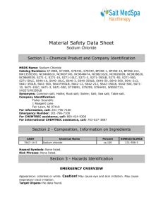 Material Safety Data Sheet Bleach ACC# 91020 Section 1