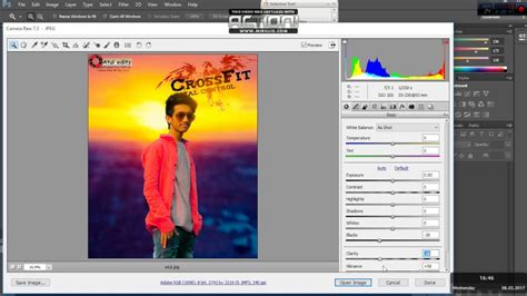 open camera raw filter  adobe photoshop cs