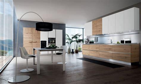 cuisine moderne blanche et bois cuisine moderne blanche et bois sans poignées