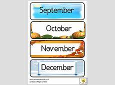 Months New Calendar Template Site