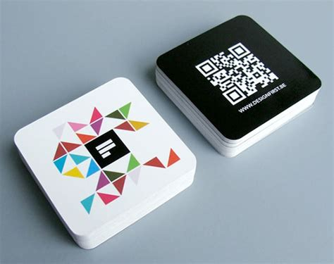 Cool Examples Of Square Sized Business Cards