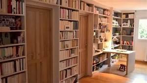 Comment Faire Une Bibliothèque : biblioth que sur mesure en medium youtube ~ Dode.kayakingforconservation.com Idées de Décoration