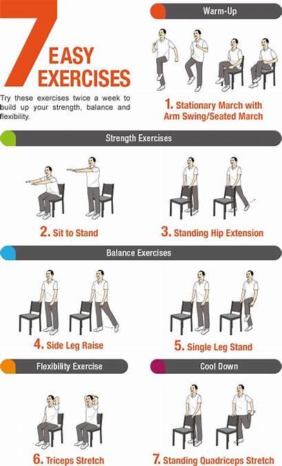 Exercises Seniors Balance Easy Pdf Seated Exercise