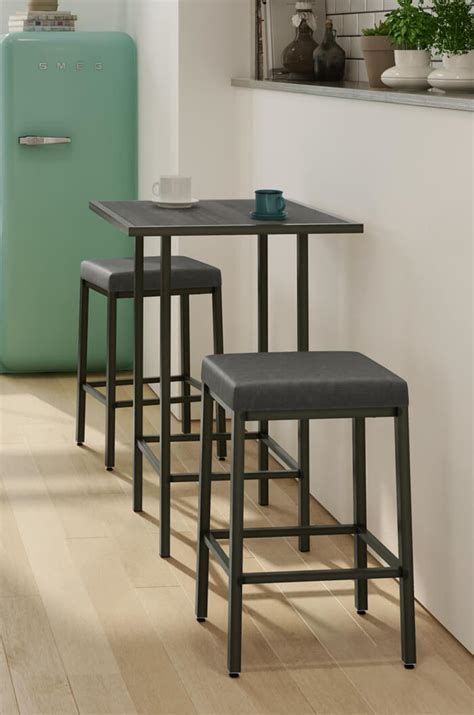 Amisco's Bradley Narrow Depth Backless Modern Stool   Free