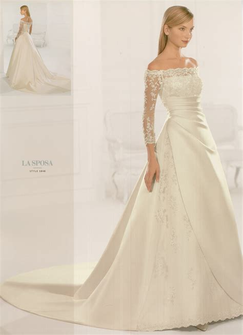 item sleeve004 wedding dress with sleeves