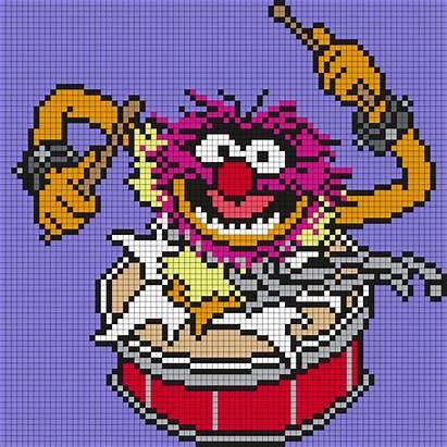 Muppets Animal Patterns Bead Stitch Cross Perler