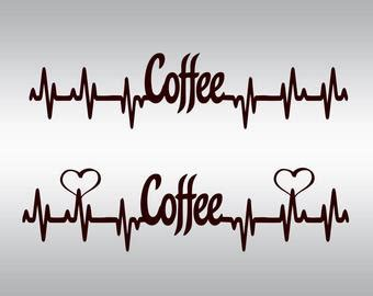 Heartbeat stock vectors, clipart and illustrations. Heartbeat Strip coffee SVG Clipart Cut Files Silhouette Cameo Svg for Cricut and Vinyl File ...