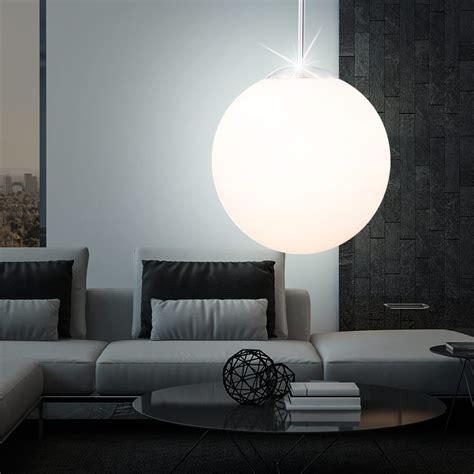 pendelleuchte haengelampe wohnzimmer opal kugel design