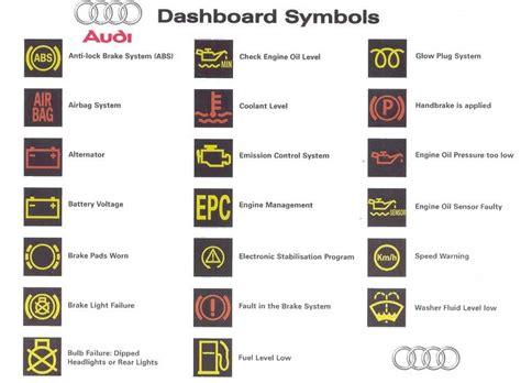 audi  dashboard symbols audi tips