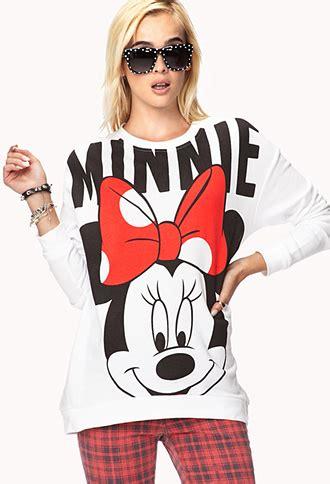 longline minnie mouse sweatshirt  white lyst
