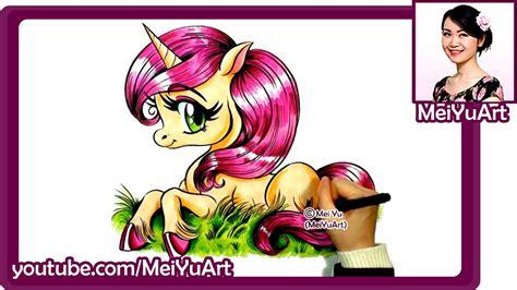 cute beautiful unicorn drawing marker art  mei yu meiyuart youtube
