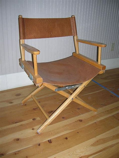 folding directors chair leather and wood 150 chairs