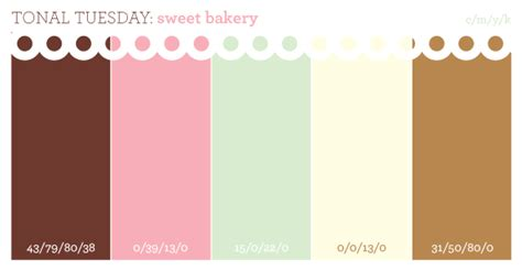 Sweet Bakery Color Palette, Featuring The Color Mint. It