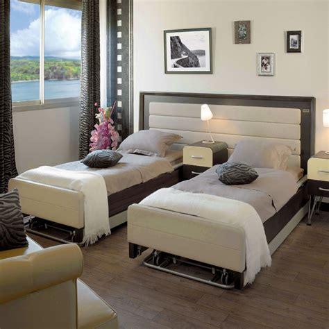promo canape cuir lit médicalisé 2 personnes confort
