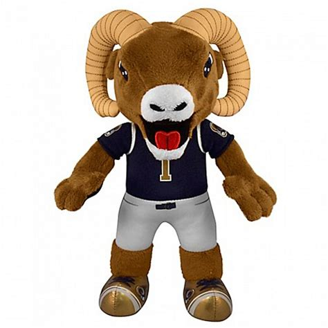 nfl los angeles rams mascot rampage   plush figure