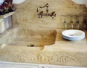 Evier Cuisine En Pierre : evier massif sculpte vaucluse avignon isle sur la sorgue ~ Premium-room.com Idées de Décoration