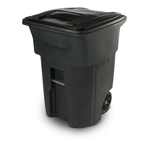 toter trash can lowes shop toter two wheel trash can 96 gallon greenstone