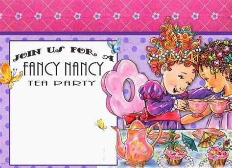 Fancy nancy Birthday party invitations and Nancy dell