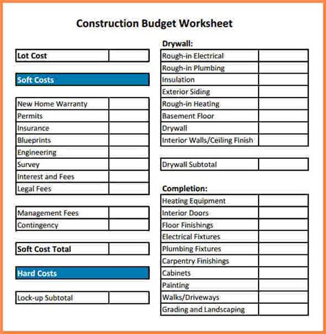 construction expenses spreadsheet excel spreadsheets