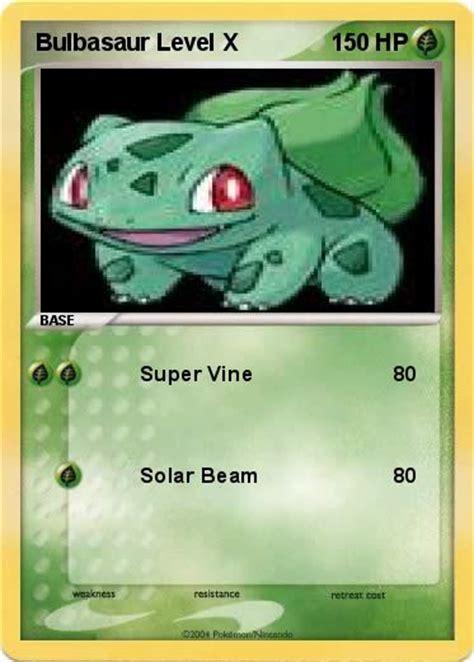 Mar 17, 2021 · bulbasaur is the only unevolved dual type starter pokémon. Pokémon Bulbasaur Level X - Super Vine - My Pokemon Card