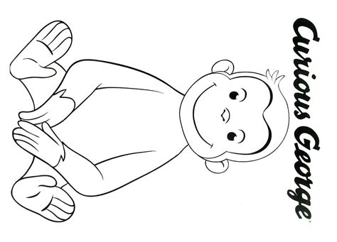 Curious George Colouring Pages Printable Printable