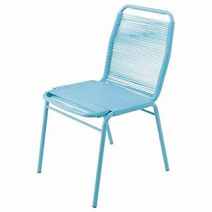 Chaise De Jardin Metal : chaise de jardin en poly thyl ne et m tal turquoise scoubi ~ Dailycaller-alerts.com Idées de Décoration