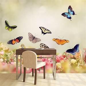 butterfly bedroom wall decor ideas home design inspirations With best brand of paint for kitchen cabinets with wall art butterflies and flowers