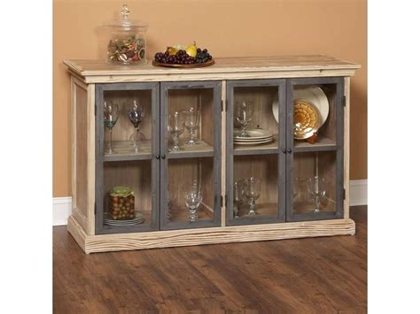 Sideboard With Glass Doors by 15 Best Of Black Sideboards With Glass Doors
