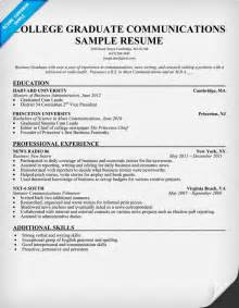 exle of a college graduate resume resume writing college graduates