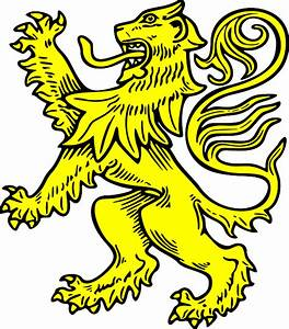 SYMBOL, SHIELD, GOLD, COAT, LION, ARMS, CREST, ANIMAL ...