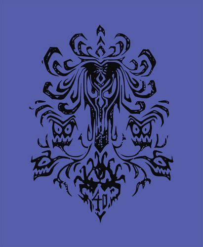 Will you be using any of these haunted mansion wallpapers? Disney Haunted Mansion Wallpaper Stencil - WallpaperSafari