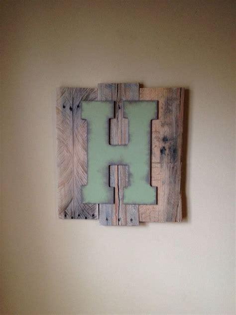 custom pallet letter art wall hanging