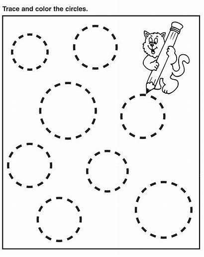 Tracing Preschool Worksheets Circles Coloring Pages