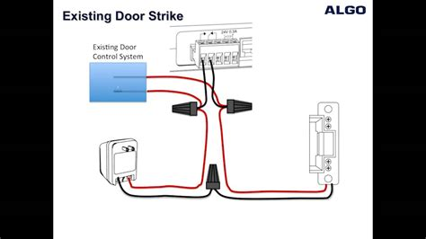 how to wire a door strike to an algo 3226 3228 and 8028